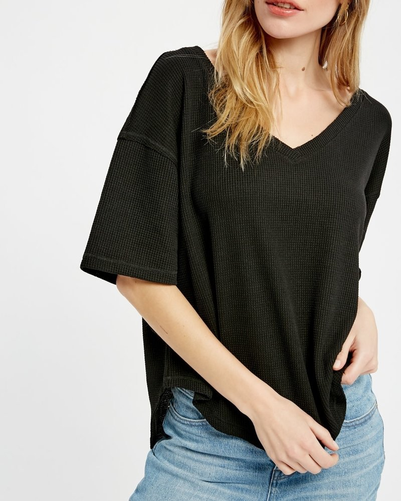 Wishlist Wishlist Black 'Donna' Oversized Thermal Top