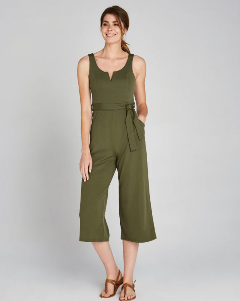 Apricot Apricot Olive  '2 Of A Kind' V-Neck Jumpsuit **FINAL SALE**