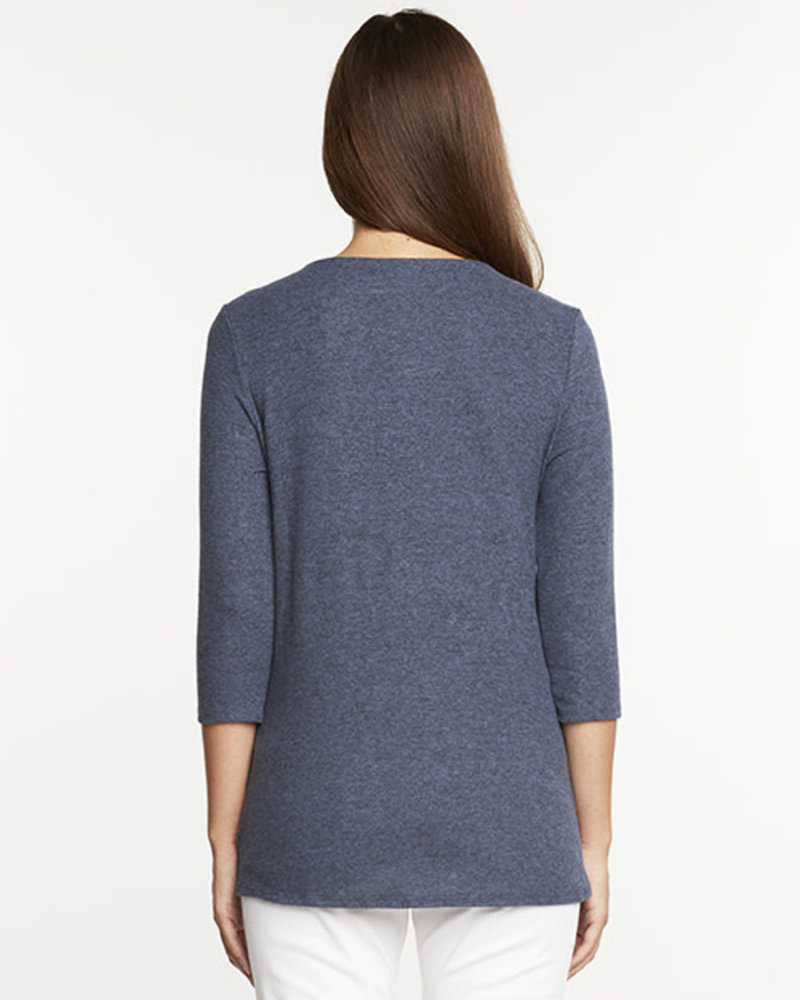 Matty M Matty M 3/4 Sleeve Knot Knit Top
