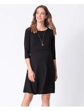 Seraphine Maternity Black 'Una' Maternity/Nursing Skater Dress