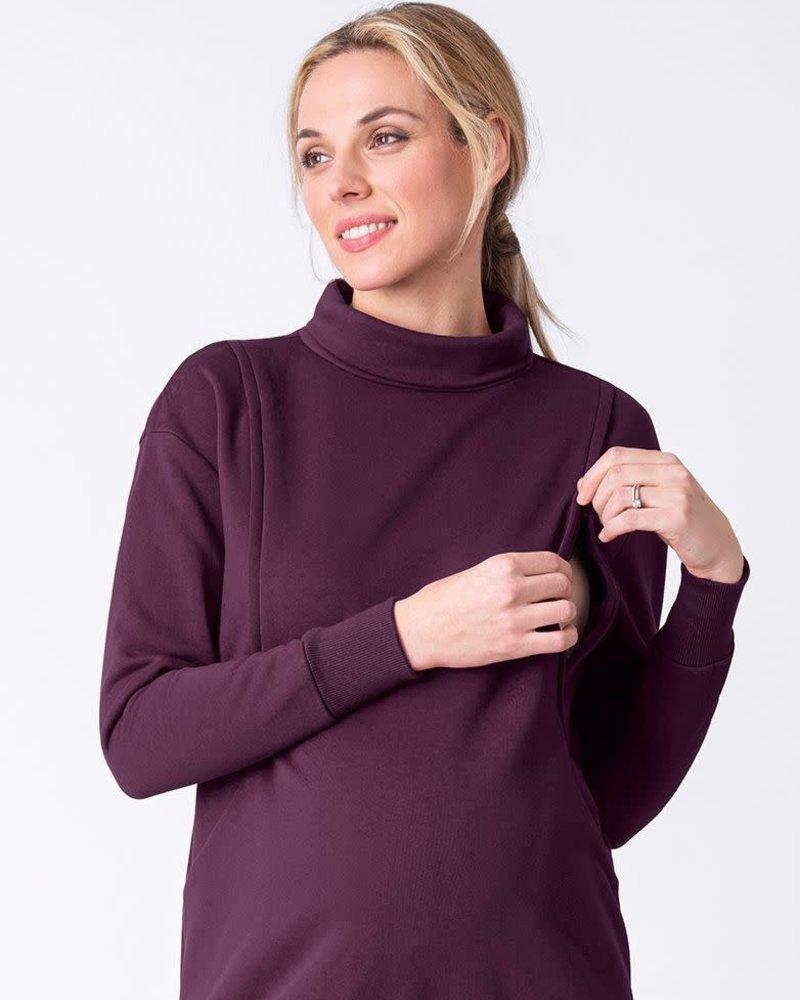 Seraphine Maternity Seraphine Black Cherry 'Dina' Maternity/Nursing Sweatshirt