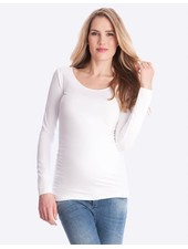 Seraphine Maternity White 'Julianne' Long Sleeve Maternity Tee