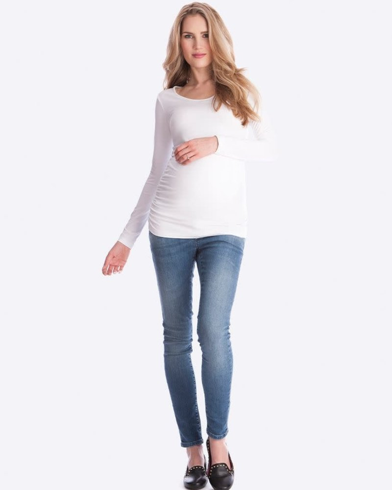 Seraphine Maternity Seraphine White 'Julianne' Long Sleeve Maternity Tee