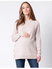 Seraphine Maternity 'Grete' Textured Maternity/Nursing Sweater