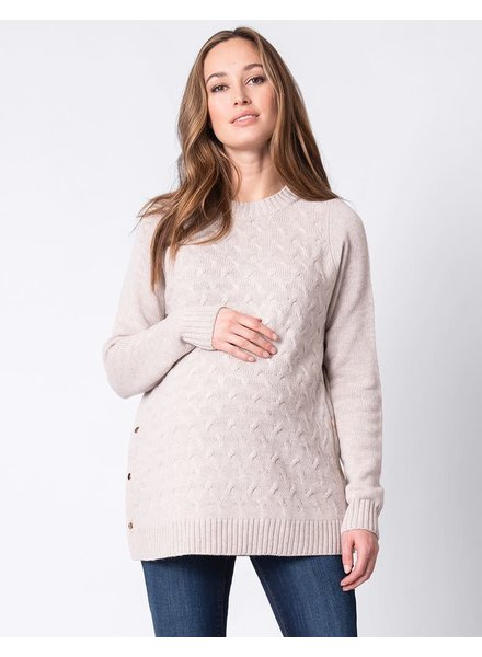 Seraphine Maternity 'Grete' Textured Maternity/Nursing Sweater
