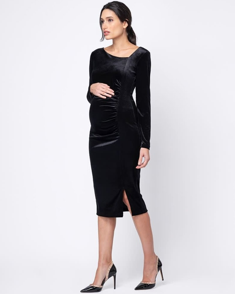 Seraphine Maternity Seraphine 'Morwenna' Ruched Midi Dress **FINAL SALE**