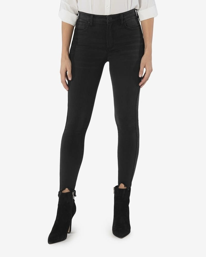 Kut from the Kloth Kut from the Kloth 'Connie' Fab Ab Ankle Skinny Jeans in Black (Size 4)