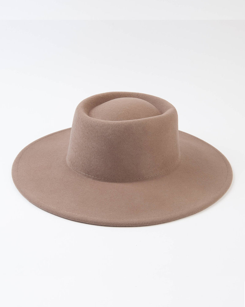 Lucca Couture Lucca 'Vera' Wool Boater Hat in Khaki