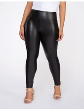 Dex Plus High Waisted Faux Leather Legging **FINAL SALE**