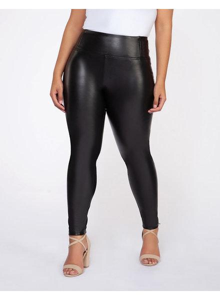 Dex Plus High Waisted Faux Leather Legging **FINAL SALE**
