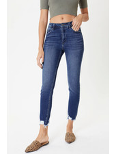 Kancan 'MaryClaire' High Rise Hem Detail Skinny Jeans