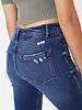 Kancan Kancan 'MaryClaire' High Rise Hem Detail Skinny Jeans