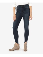 Kut from the Kloth 'Connie' High Rise Skinny Ankle Curve Raw Hem Jeans in Alter