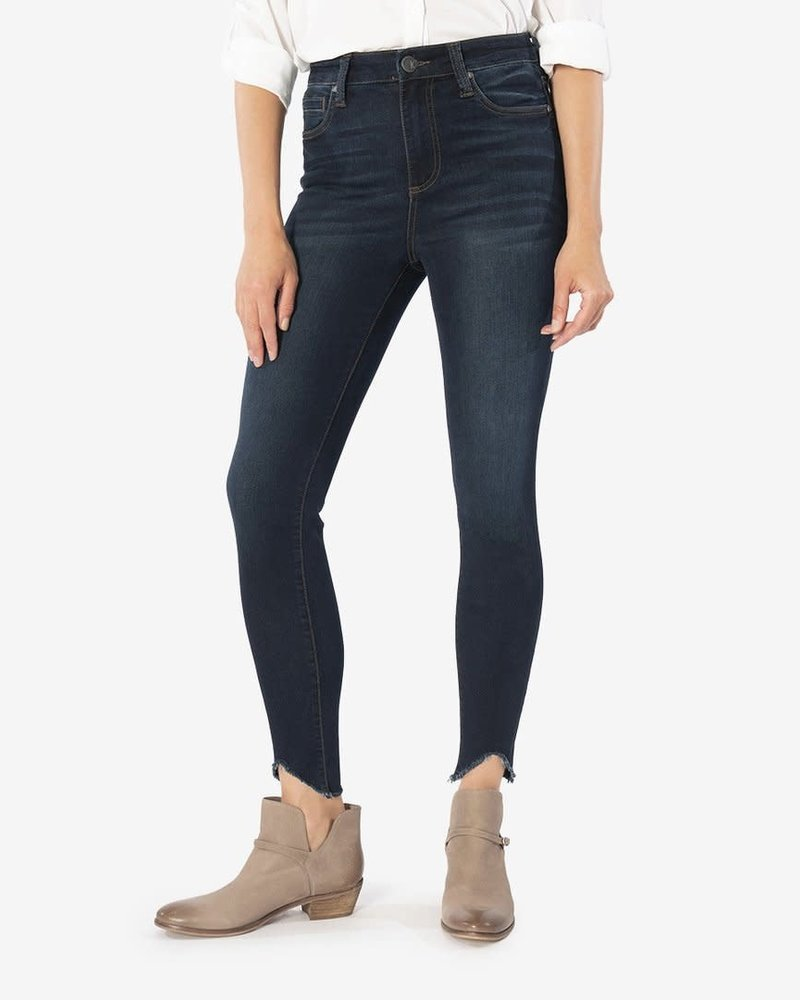Kut from the Kloth Kut from the Kloth 'Connie' High Rise Skinny Ankle Curve Raw Hem Jeans in Alter