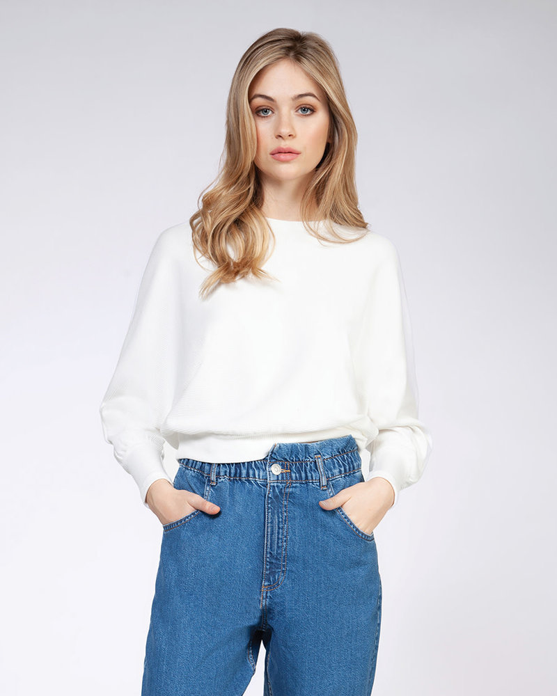Dex Dex 'Off To The Side' Dolman Sleeve Top
