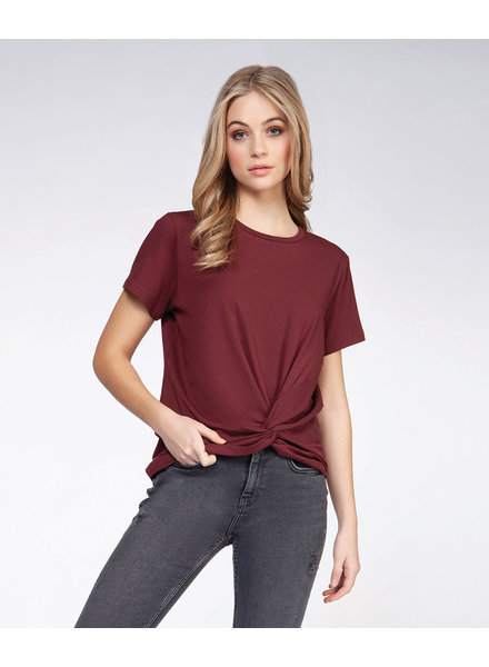 Dex Oxblood 'You Got Me Twisted' Top
