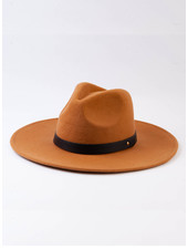 Lucca Couture 'Tanny' Wool Fedora | Tobacco