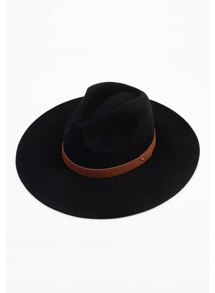 Lucca Couture 'Tanny' Wool Fedora | Black
