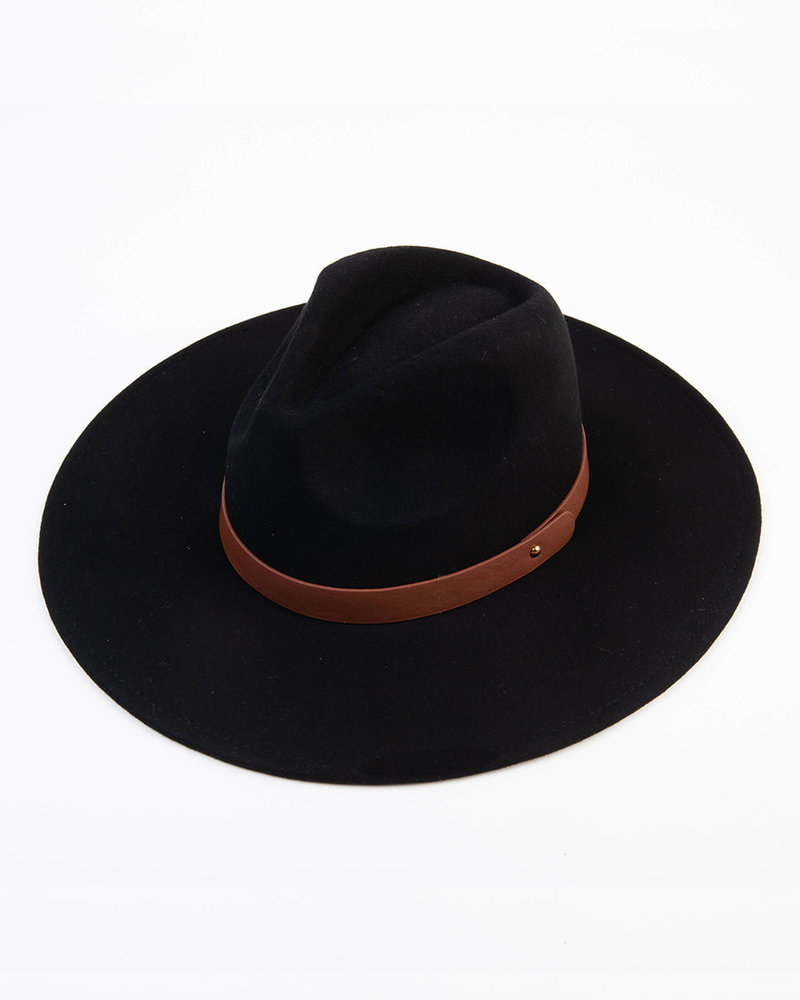 Lucca Couture Lucca 'Tanny' Wool Fedora | Black