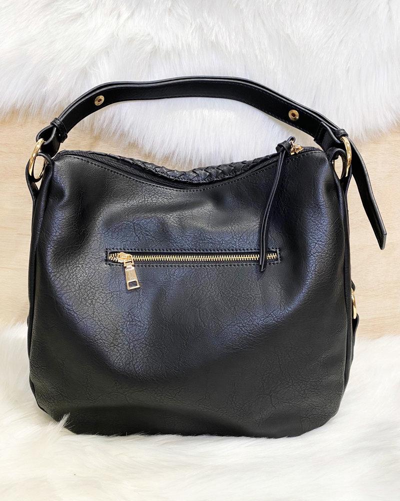 Belle Up 'Maryann' Woven Hobo Bag
