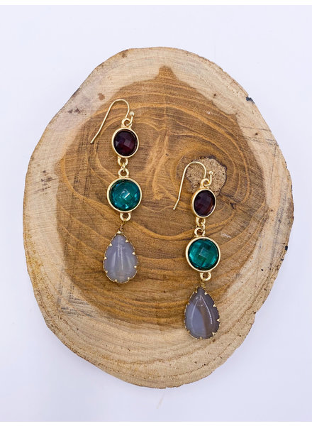 'Hot Girl Ish' Gemstone Earrings (More Colors)