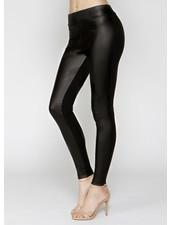 Matty M Faux Leather Contrast Legging **FINAL SALE**