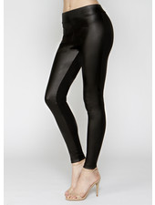 Matty M Faux Leather Contrast Legging