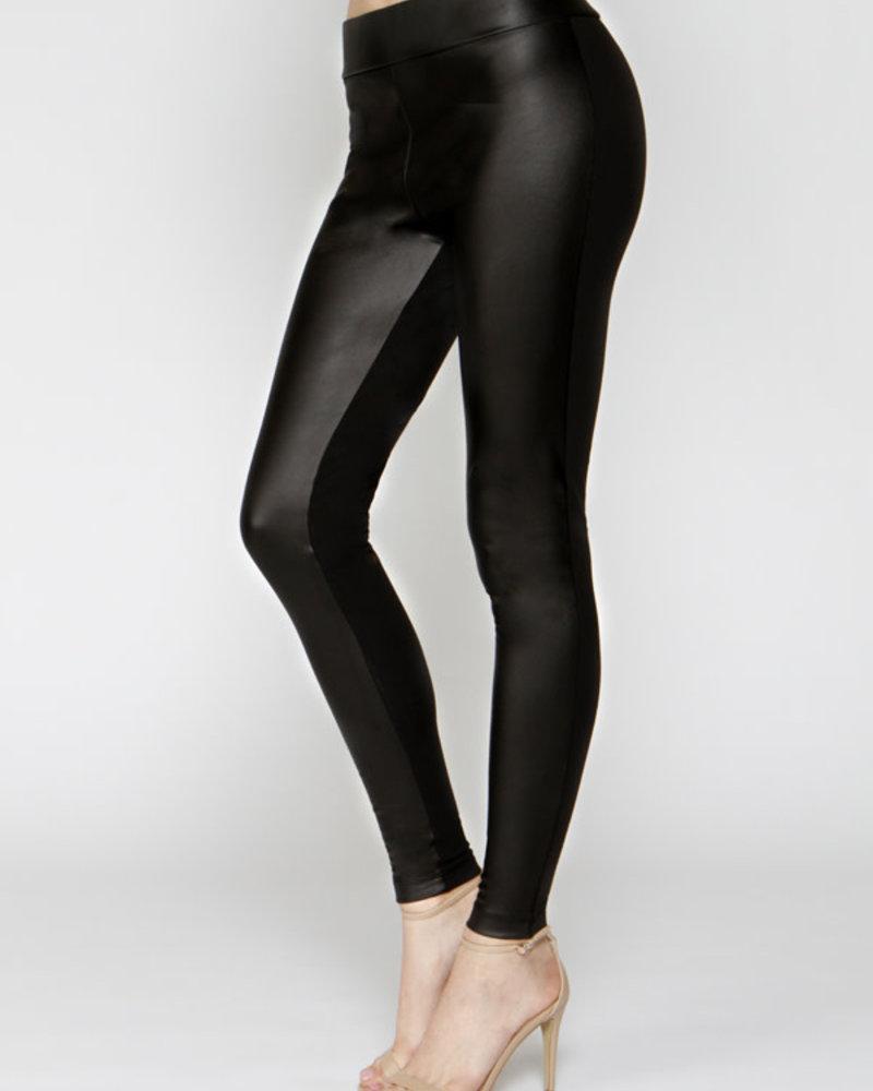 Matty M Matty M Faux Leather Contrast Legging **FINAL SALE**
