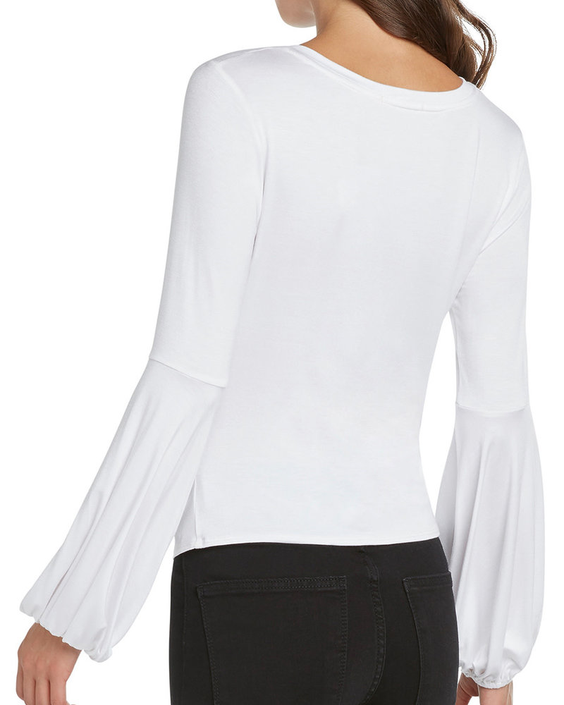 Willow & Clay Willow & Clay White Twist Wrap Top