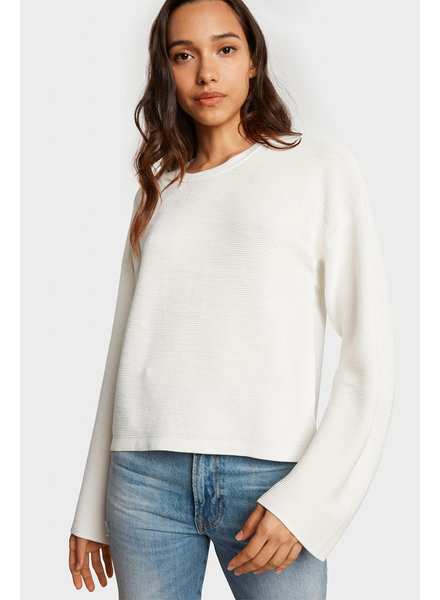 Willow & Clay Exposed Back Wrap Sweater