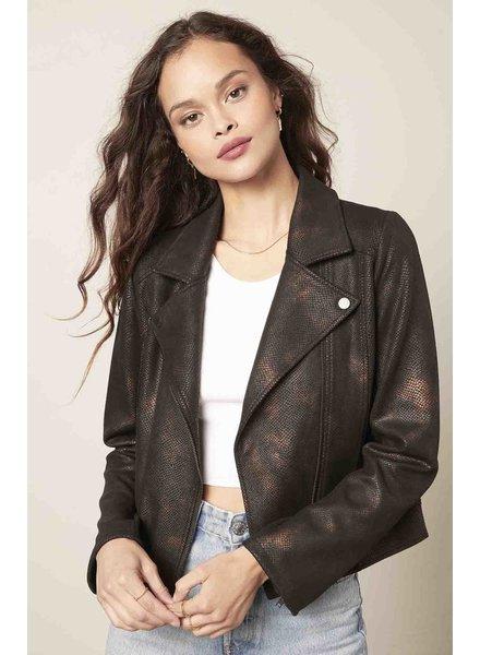 Cupcakes & Cashmere 'Thalia' Vegan Leather Jacket **FINAL SALE**