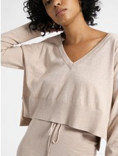 Sanctuary Clothing Essential V-Neck Crop Sweater