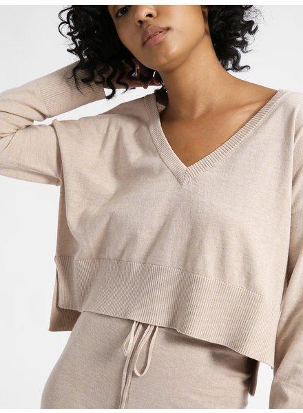 Sanctuary Clothing Essential V-Neck Crop Sweater