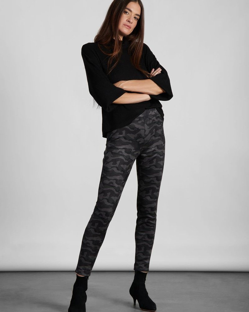 Sanctuary Clothing Sanctuary Black Camo 'Runway' Faux Suede Legging