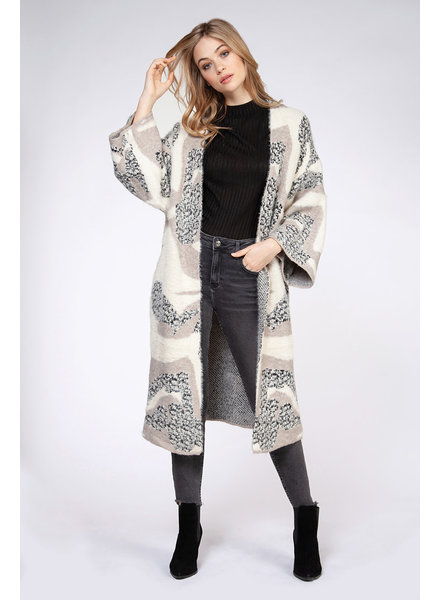 Dex 'All Patched Up' Long Cardigan