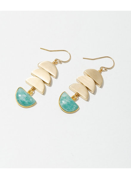 Larissa Loden Amazonite 'Vera' Earrings