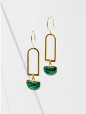 Larissa Loden Malachite 'Casablanca' Earrings