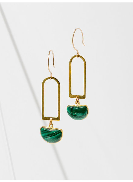 Larissa Loden Malachite 'Casablanca' Earrings