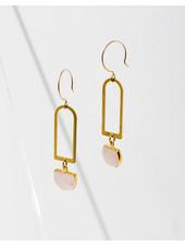 Larissa Loden Rose Quartz 'Casablanca' Earrings