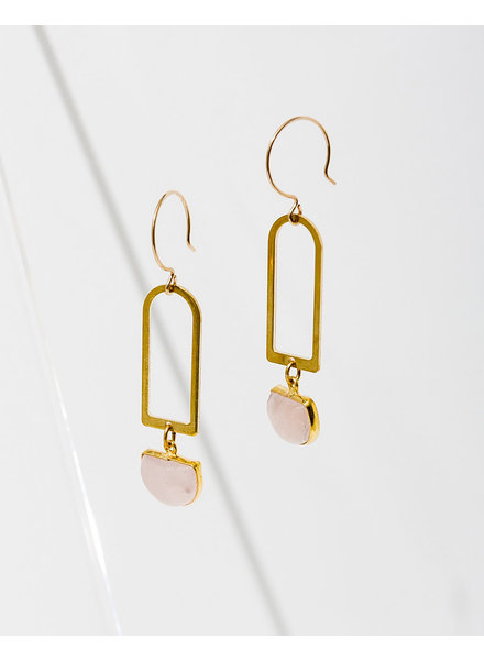 Larissa Loden Rose Quartz 'Casablanca' Earrings