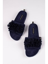 Pretty You London 'Albany' Slides Gift Set   Navy **FINAL SALE**