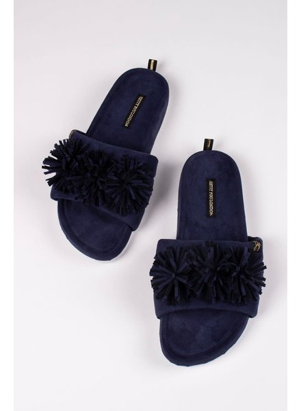 Pretty You London 'Albany' Slides Gift Set | Navy