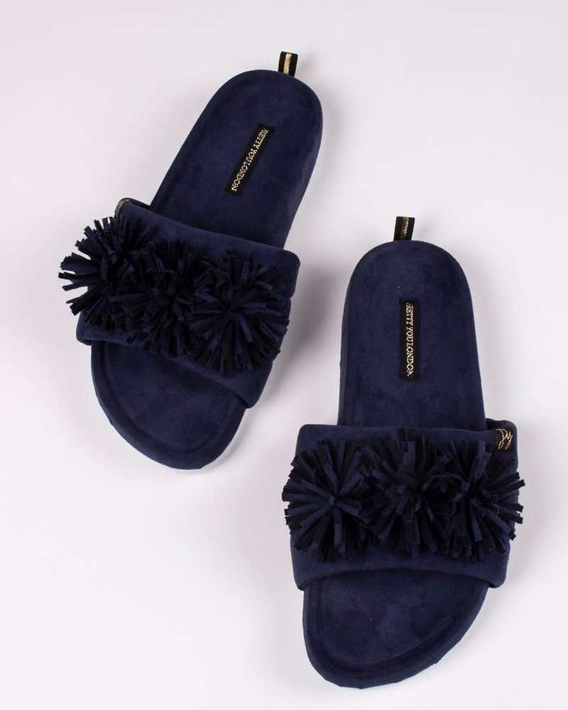 Pretty You London Pretty You London 'Albany' Slides Gift Set | Navy