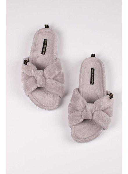 Pretty You London 'Ariel' Slides Gift Set | Grey