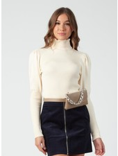 Lucca Couture 'Bekka' Turtleneck Puff Sleeve Sweater