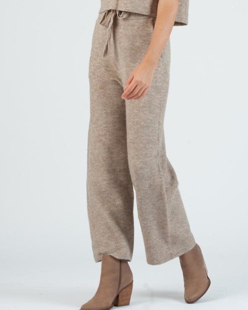 Lucca Couture Lucca 'Teff' Sweater Knit Pants