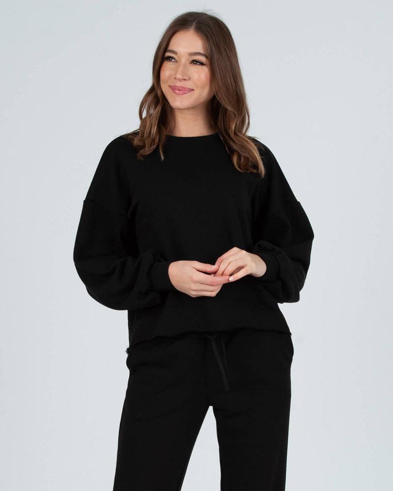 Lucca Couture Lucca 'Bucharest' Raw Hem Sweatshirt