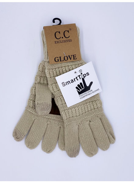 Classic Cable Knit Touch Gloves (More Colors)