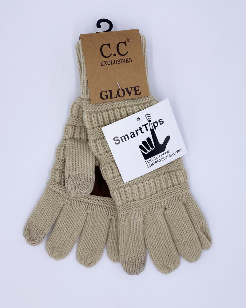 CC Classic Cable Knit Touch Gloves