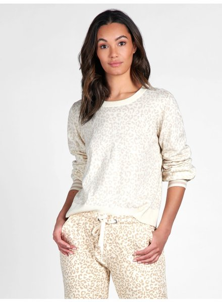 Sanctuary Clothing 'Barely Leopard' Pullover Sweater